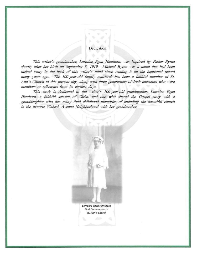 Dedication page